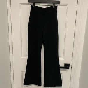 FOREVER 21 elastic ribbed flare dress pant XS